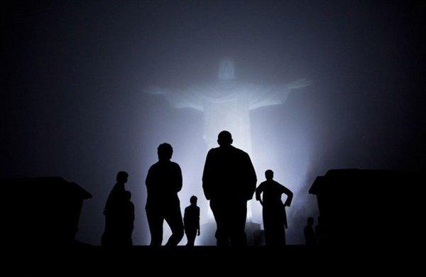 Família Obama no Cristo Redentor